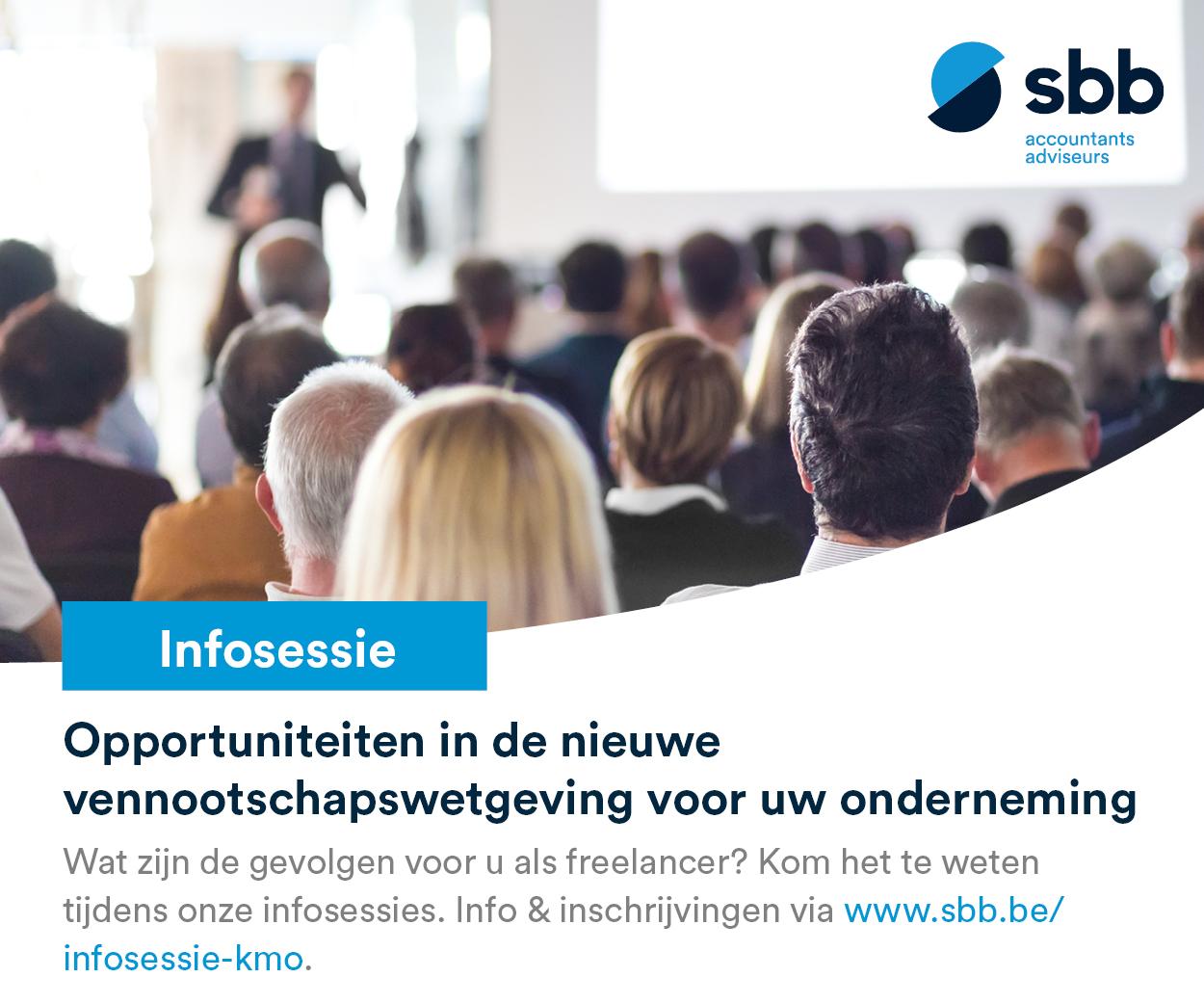 Banner van onze partner SBB kennissessie