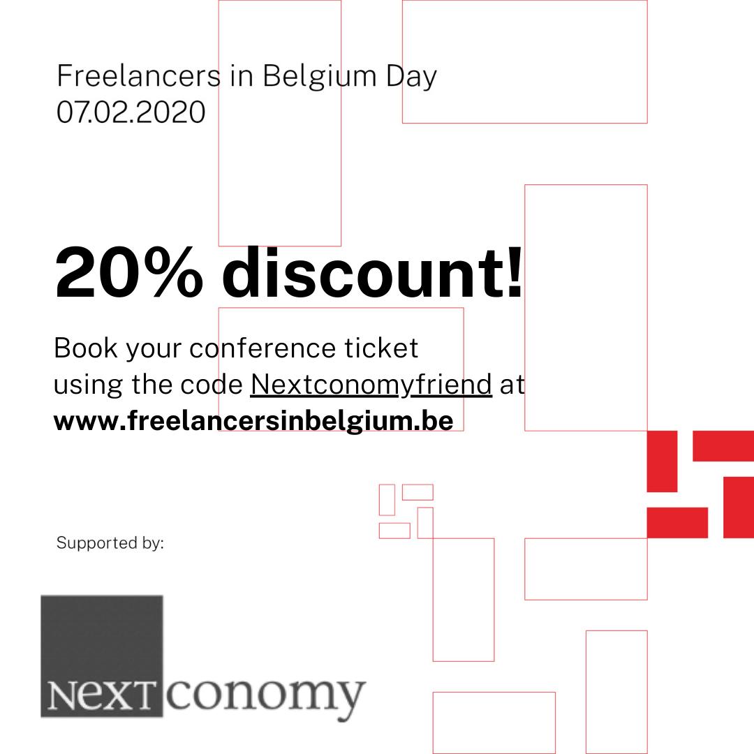 Banner van freelance in belgium